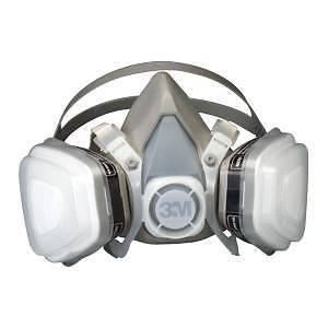 3M 7192 07192 Dual Cartridge Respirator Mask Assembly Organic Vapor//P95 Medium